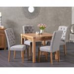 Cheadle 90cm Oak Extending Dining Table with Candice Fabric Chairs
