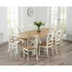 Chelsea Oak & Cream Extending Dining Table with Cavendish Chairs