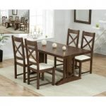 Cavendish 165cm Dark Oak All Sides Extending Table with Cheshire Chairs