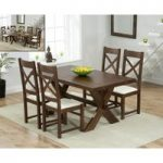 Bordeaux 165cm Dark Oak All Sides Extending Table with Cheshire Chairs