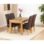 Rustique 120cm Solid Oak Extending Dining Table with Rustique Chairs