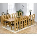 Rustique 180cm Solid Oak Extending Dining Table with Louis Chairs