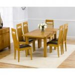 Rustique 120cm Solid Oak Extending Dining Table with Monaco Chairs