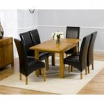 Rustique 120cm Solid Oak Extending Dining Table with Venezia Chairs