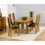 Rustique 120cm Solid Oak Extending Dining Table with Toronto Chairs