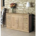 Mobel Solid Oak 6 Drawer Sideboard