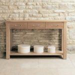 Mobel Solid Oak Console Table