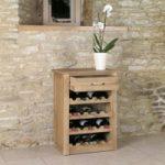 Mobel Solid Oak Wine Rack Lamp Table