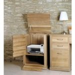 Mobel Solid Oak Printer Cabinet