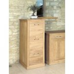 Mobel Solid Oak 3 Drawer Filing Cabinet