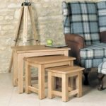 Mobel Solid Oak Nest of Tables