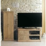 Mobel Solid Oak 4 Drawer Television Cabinet