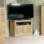 Mobel Solid Oak Corner TV Cabinet