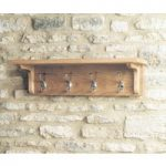 Mobel Solid Oak Wall Mounted Coat Rack