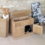 Mobel Solid Oak Hidden Storage Shoe Bench