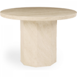 Cenadi 110cm Round Marble Effect Dining Table