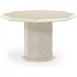 Cenadi 120cm Octagonal Marble Effect Dining Table