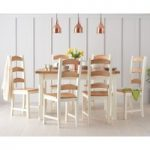 Eton 120cm Solid Pine and Ash Kitchen Table with Eton Chairs