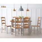 Eton Grey 130cm Solid Pine and Ash Kitchen Table with Eton Chairs