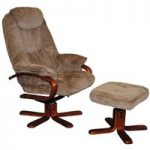 Hong Kong Mink Recliner and Footstool