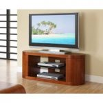 Curve Walnut Oval TV Unit
