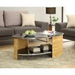 Curve Oak Oval Coffee Table