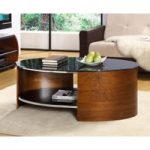 Curve Walnut Oval Coffee Table