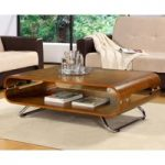 Curve Walnut Coffee Table