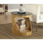 Curve Oak Oval Lamp Table