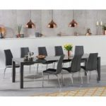 Jacobi Extending Dark Grey High Gloss Table with Cavello Chairs