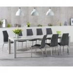 Jacobi Extending Light Grey High Gloss Table with Cavello Chairs