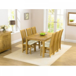 Lille 150cm Dining Table and Chairs with Interchangeable Cream and Brown Seats