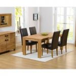 Lisbon 150cm Solid Oak Dining Table with Rustique Chairs