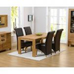 Lisbon 150cm Solid Oak Dining Table with Kentucky Chairs