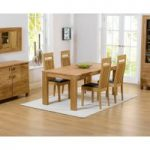 Lisbon 150cm Solid Oak Dining Table with Monaco Chairs