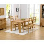 Lisbon 150cm Solid Oak Dining Table with Vermont Chairs