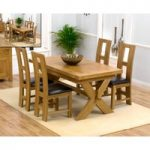 Bordeaux 160cm Solid Oak Extending Dining Table with Louis Chairs