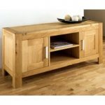Lyon Oak Large Entertainment Unit