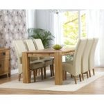 Madrid 200cm Solid Oak Extending Dining Table with Cream Cannes Chairs
