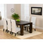 Madrid 200cm Dark Solid Oak Dining Table with Dakota Chairs
