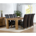 Madrid 200cm Solid Oak Dining Table with Kentucky Chairs