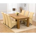 Madrid 200cm Solid Oak Extending Dining Table with Kentucky Chairs