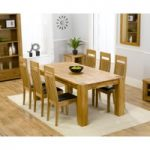Madrid 200cm Solid Oak Dining Table with Monaco Chairs
