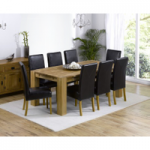 Madrid 200cm Solid Oak Extending Dining Table with Rustique Chairs