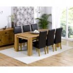 Madrid 200cm Solid Oak Dining Table with Rustique Chairs