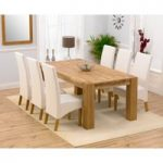 Madrid 200cm Solid Oak Dining Table with Venezia Chairs