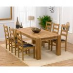 Madrid 200cm Solid Oak Dining Table with Vermont Chairs