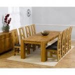 Madrid 300cm Solid Oak Dining Table with Louis Chairs