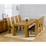 Madrid 300cm Solid Oak Dining Table with Montreal Chairs