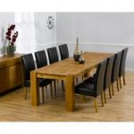 Madrid 300cm Solid Oak Dining Table with Rustique Chairs